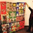 Caroline's holiday quilt.